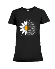 SCHOOL PSYCHOLOGIST- I BECAME A  POSTER Premium Fit Ladies Tee thumbnail