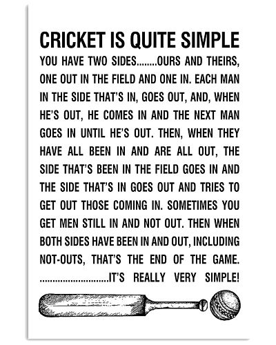 CRICKET IS QUITE SIMPLE POSTER
