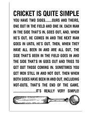 CRICKET IS QUITE SIMPLE POSTER 11x17 Poster front