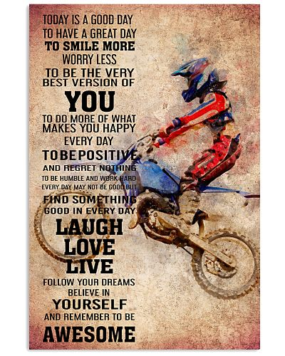 MOTOCROSS- TODAY IS A GOOD DAY POSTER