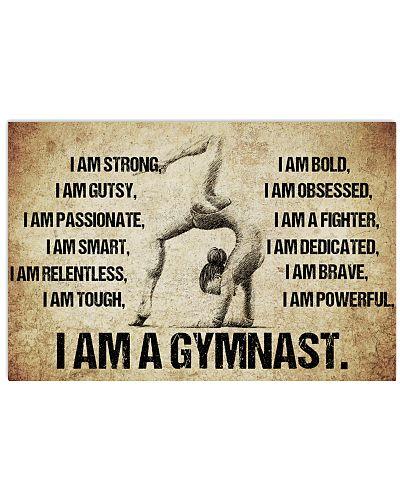 I AM A GYMNASTICS POSTER