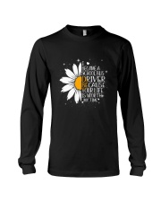 SCHOOL BUS DRIVER - I BECAME A POSTER Long Sleeve Tee thumbnail
