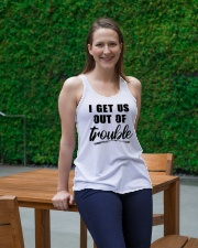 I GET US OUT OF TROUBLE Ladies Flowy Tank lifestyle-bellaflowy-tank-front-1