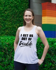 I GET US OUT OF TROUBLE Ladies Flowy Tank lifestyle-bellaflowy-tank-front-2