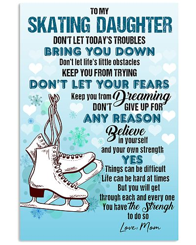 SKATING - DON'T LET TODAY'S TROUBLES POSTER