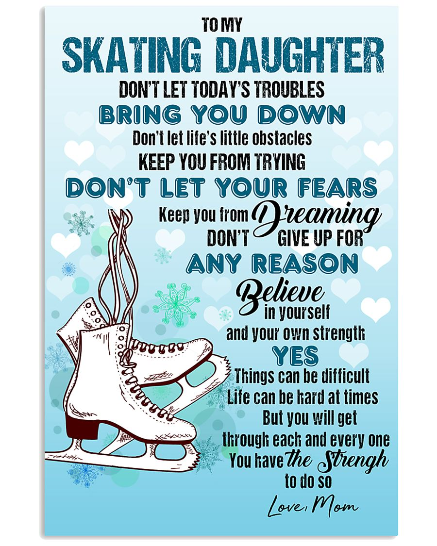 SKATING - DON'T LET TODAY'S TROUBLES POSTER 11x17 Poster
