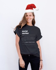 SOCIAL WORKER - noun Classic T-Shirt lifestyle-holiday-crewneck-front-1