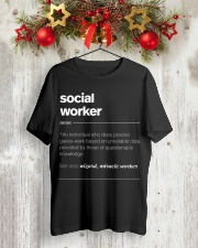 SOCIAL WORKER - noun Classic T-Shirt lifestyle-holiday-crewneck-front-2