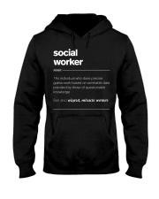 SOCIAL WORKER - noun Hooded Sweatshirt thumbnail
