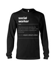 SOCIAL WORKER - noun Long Sleeve Tee thumbnail