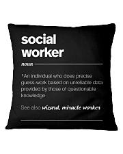 SOCIAL WORKER - noun Square Pillowcase thumbnail