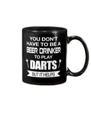 Drink beer to play darts Mug thumbnail