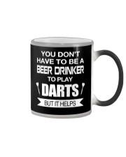Drink beer to play darts Color Changing Mug thumbnail