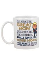 Great Mom Mother Trump Mug back