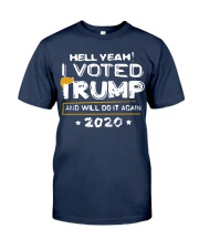 Hell Yeah I Voted Trump MAGA  Classic T-Shirt tile