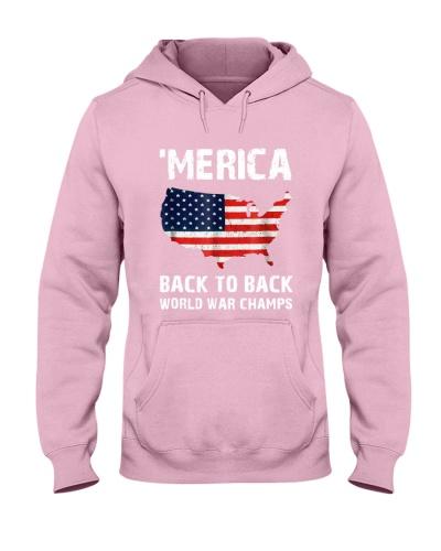 f2a522cb Merica Back To Back World War Champions Shirt | TeeChip