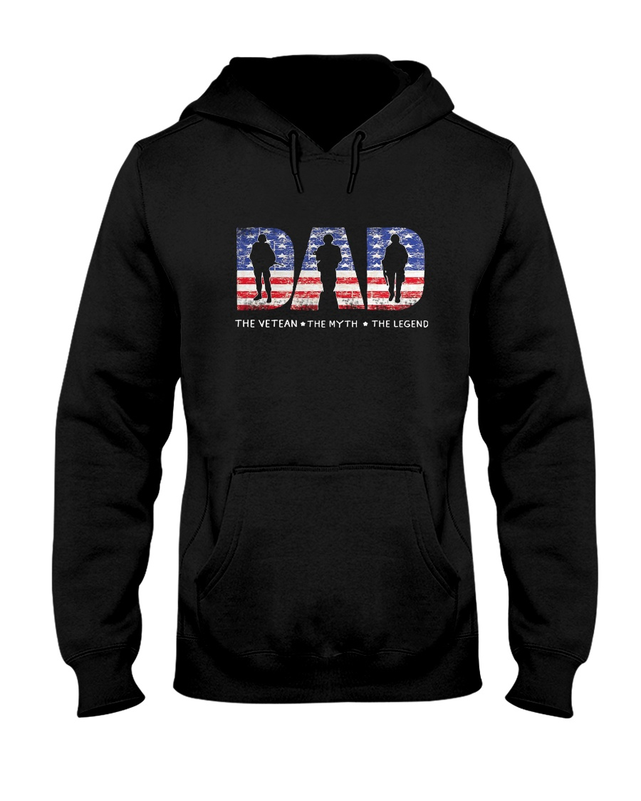 837ef958 Dad The Veteran The Myth The Legend Shirt Hooded Sweatshirt