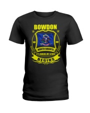 Bowdon-ND my story began with Flag Ladies T-Shirt tile