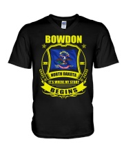 Bowdon-ND my story began with Flag V-Neck T-Shirt tile