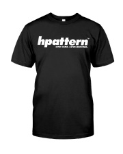 hpattern white on black Classic T-Shirt front