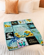 """To My Daughter Butterfly  Small Fleece Blanket - 30"""" x 40"""" aos-coral-fleece-blanket-30x40-lifestyle-front-01"""