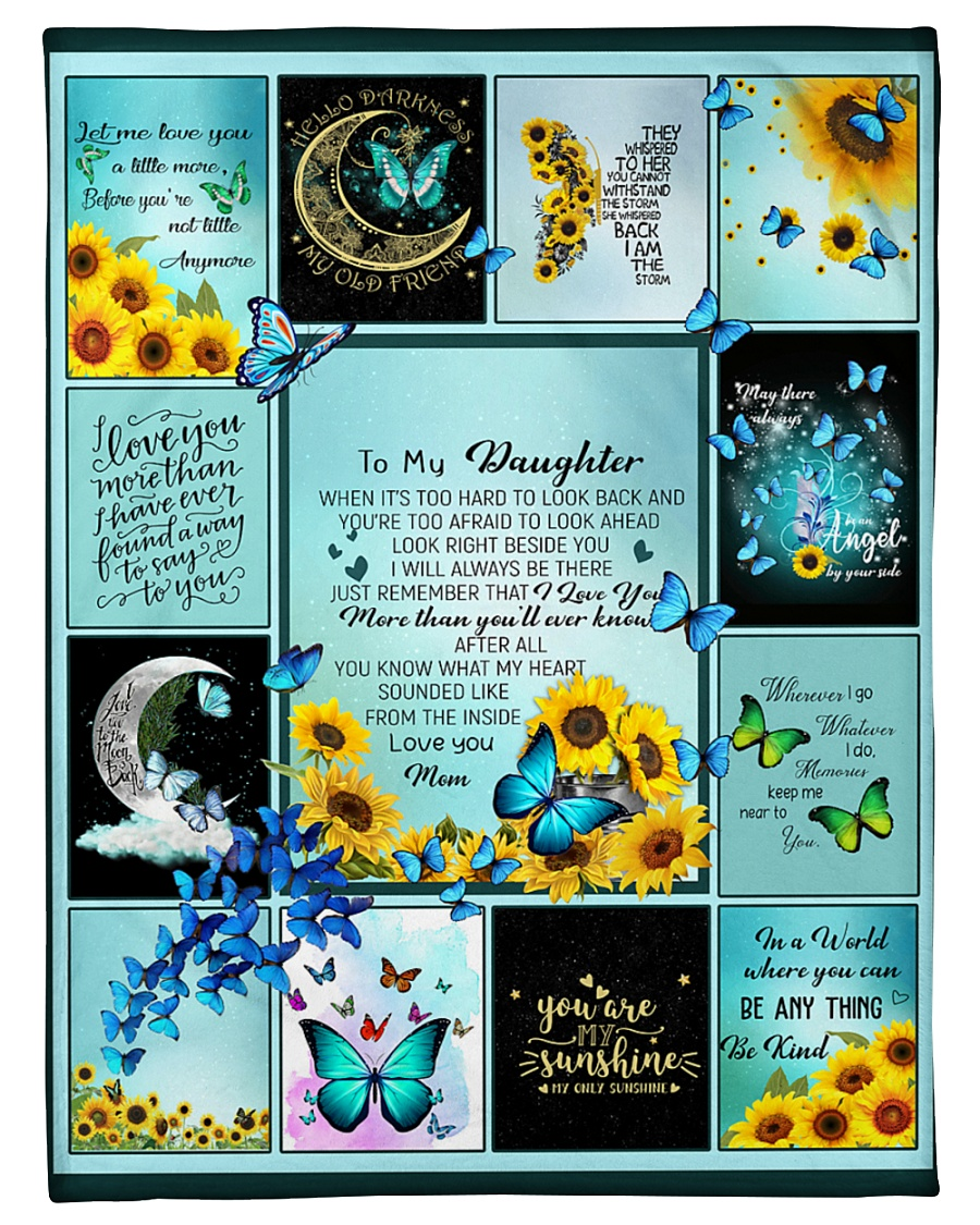 """To My Daughter Butterfly  Small Fleece Blanket - 30"""" x 40"""""""
