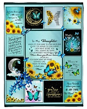"""To My Daughter Butterfly  Small Fleece Blanket - 30"""" x 40"""" front"""