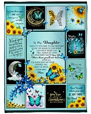 """To My Daughter Butterfly  Large Fleece Blanket - 60"""" x 80"""" thumbnail"""