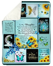 "To My Daughter Butterfly  Large Sherpa Fleece Blanket - 60"" x 80"" thumbnail"