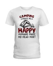 Camping Make Me Happy Ladies T-Shirt thumbnail