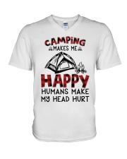 Camping Make Me Happy V-Neck T-Shirt thumbnail