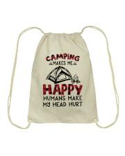 Camping Make Me Happy Drawstring Bag thumbnail