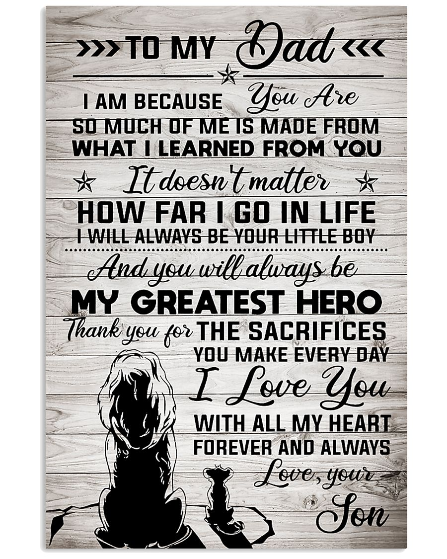 To My Dad - Lion - I Love You With All My Heart 11x17 Poster