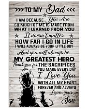 To My Dad - Lion - I Love You With All My Heart 11x17 Poster front