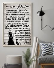 To My Dad - Lion - I Love You With All My Heart 11x17 Poster lifestyle-poster-1