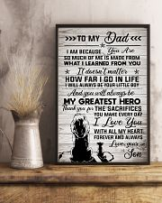 To My Dad - Lion - I Love You With All My Heart 11x17 Poster lifestyle-poster-3