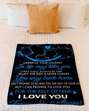 """To My Son Wherever Your Journey In Life May Take Small Fleece Blanket - 30"""" x 40"""" aos-coral-fleece-blanket-30x40-lifestyle-front-04"""