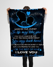 """To My Son Wherever Your Journey In Life May Take Small Fleece Blanket - 30"""" x 40"""" aos-coral-fleece-blanket-30x40-lifestyle-front-14"""