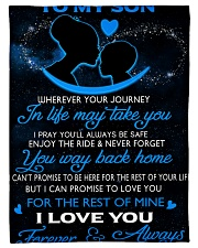 """To My Son Wherever Your Journey In Life May Take Small Fleece Blanket - 30"""" x 40"""" front"""