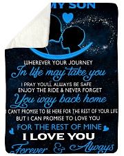 """To My Son Wherever Your Journey In Life May Take Large Sherpa Fleece Blanket - 60"""" x 80"""" thumbnail"""