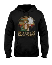 I'm Mostly Peace Love And Light 420 Hooded Sweatshirt thumbnail