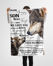 "To Our Amazing Son Never Forget How Much We Love U Small Fleece Blanket - 30"" x 40"" aos-coral-fleece-blanket-30x40-lifestyle-front-14"