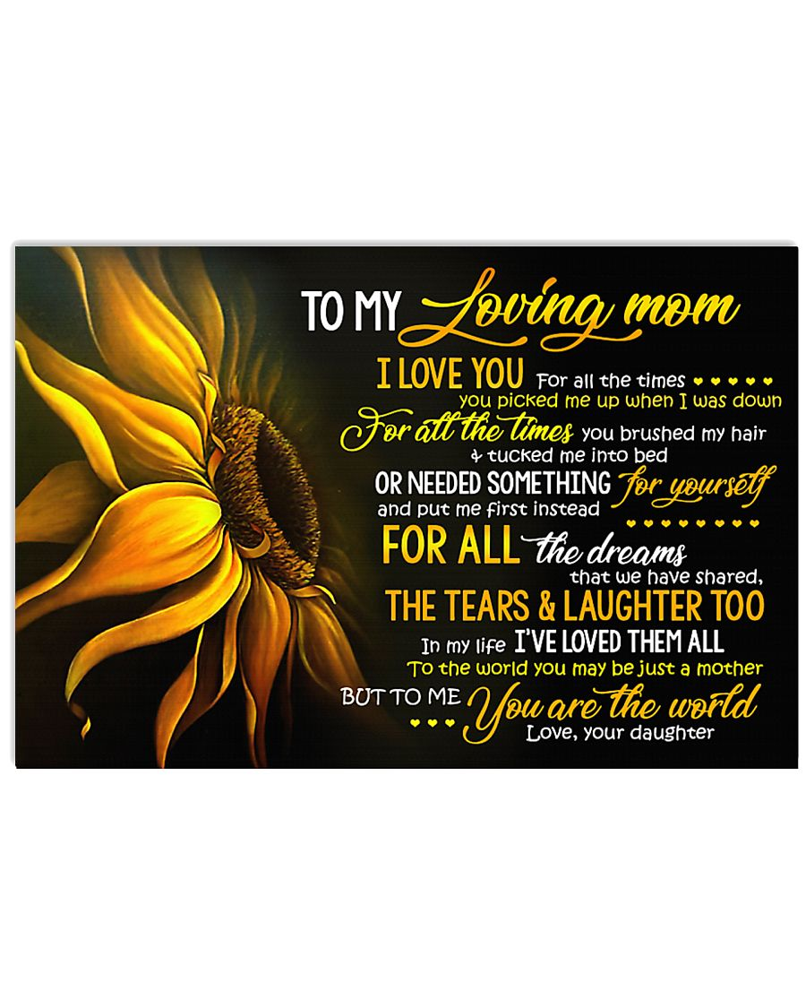 To My Loving Mom 36x24 Poster