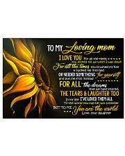 To My Loving Mom 36x24 Poster front