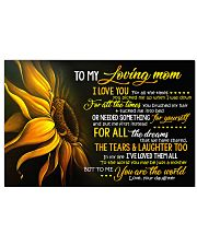 To My Loving Mom 17x11 Poster front
