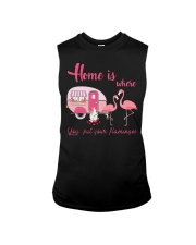 Home Is Where You Put Your Flamingos Sleeveless Tee thumbnail