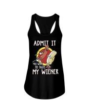 Admit It You Want To Taste My Wiener Ladies Flowy Tank thumbnail