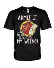 Admit It You Want To Taste My Wiener V-Neck T-Shirt thumbnail