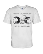 Freedom's Just Another Word 4 Nothing Left To Lose V-Neck T-Shirt tile