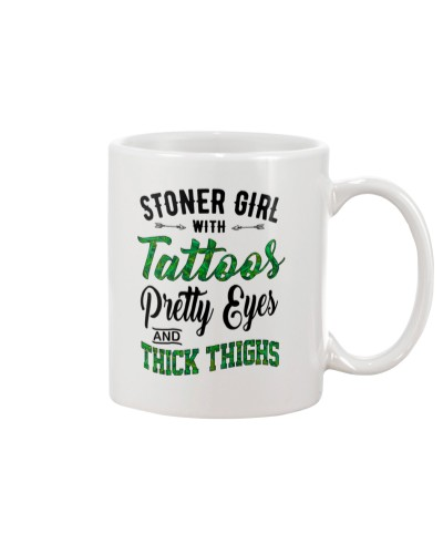 Stoner Girl With Tattoos Pretty Eyes Thick Thighs